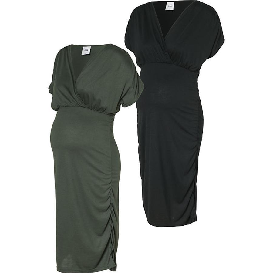 mama licious těhotenské šaty MLPILAR 2 ks thyme