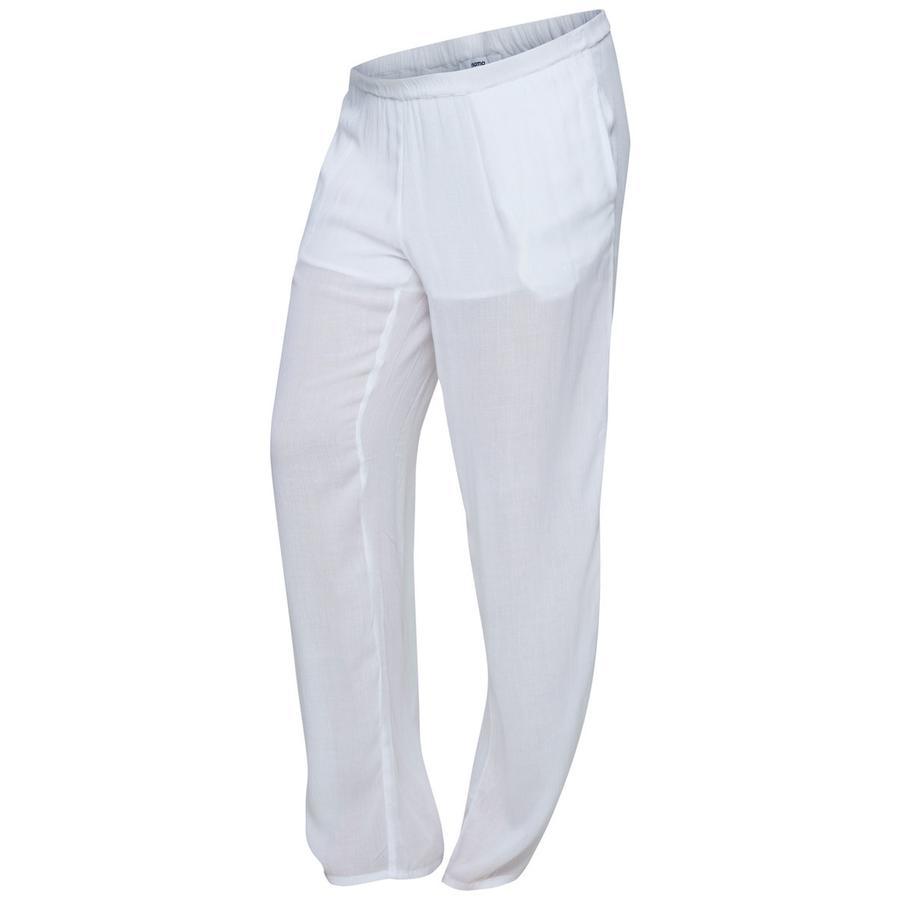 mama licious Pantalon de maternité MLMAPLE Blanc vif