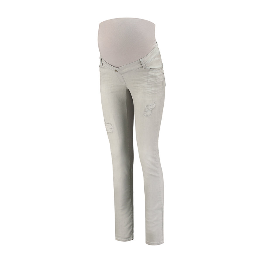 LOVE2WAIT Umstandsjeans Sophia Grey Destroyed