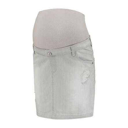 LOVE2WAIT Jupe de jeans de maternité Grey Destroyed en jeans
