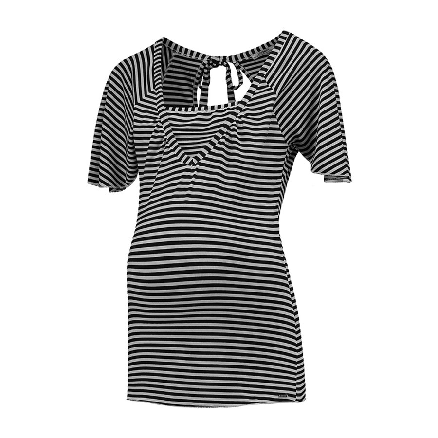 LOVE2WAIT Camiseta de enfermera a rayas negra