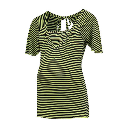 LOVE2WAIT Koszulka pielęgniarska Koszulka w paski Limonka