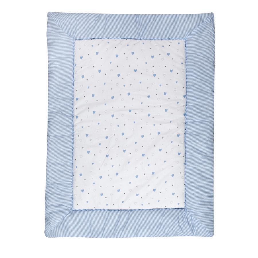 Schardt Manta para juegos 100 x 135 cm Corazoncitos azul claro