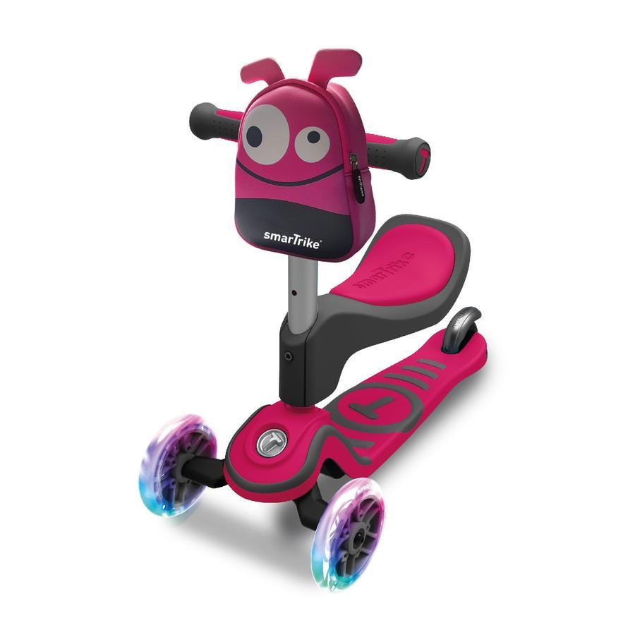 smarTrike Scooter T1, šedá/růžová