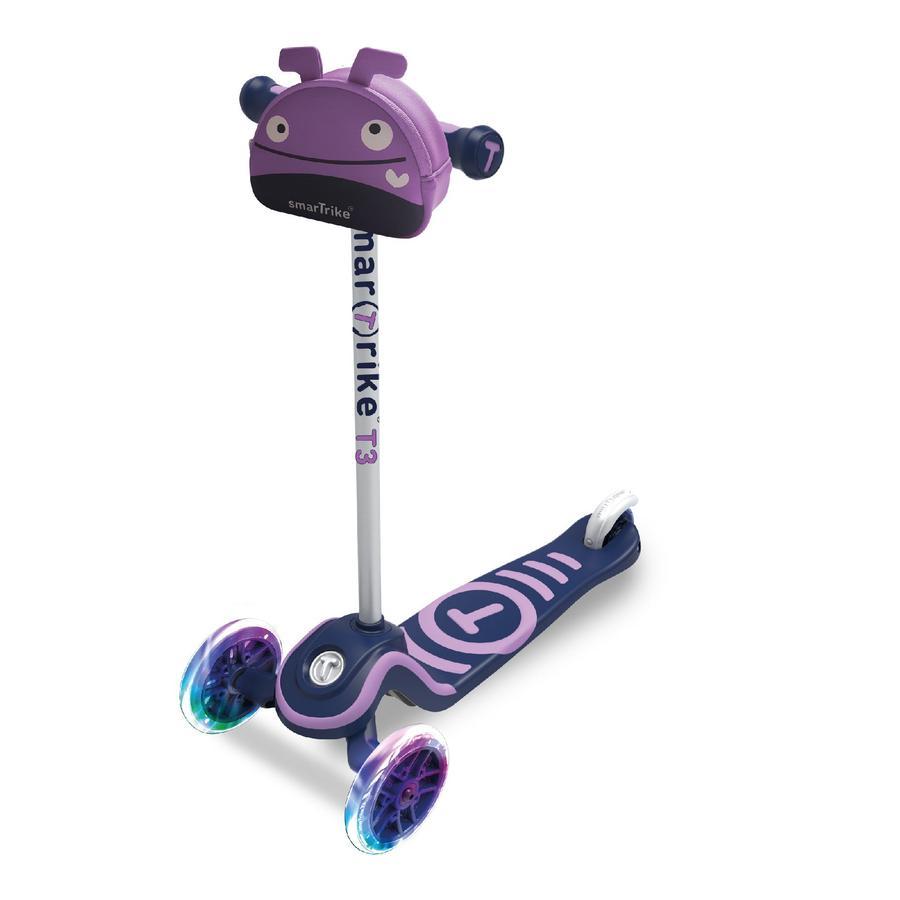 smarTrike® Trottinette enfant 3 roues T3, noir/violet
