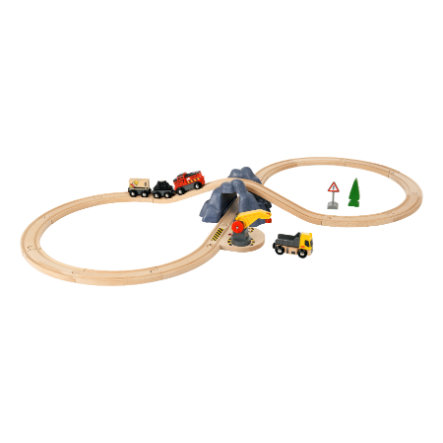 BRIO® Circuit train grand huit tunnel bois 33983