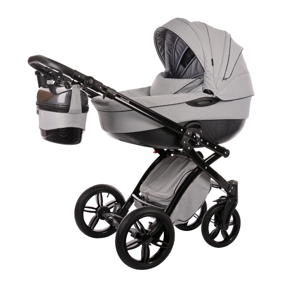 knorr-baby Cochecito combinable Alive be Carbon gris-negro