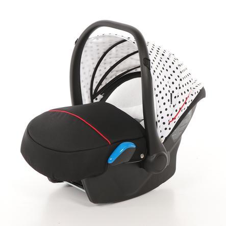 knorr-baby Autostoel/Reiswieg Milan voor Voletto Tupfen wit-zwart