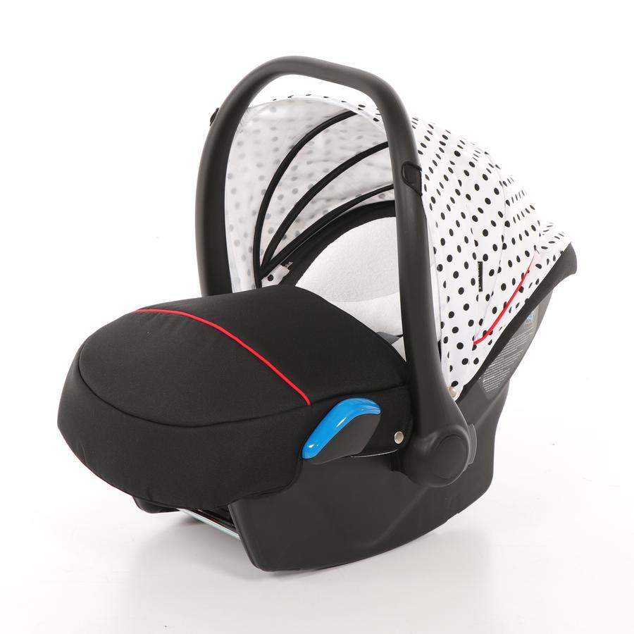 knorr-baby Babyschale Milan für Voletto Tupfen weiß-schwarz