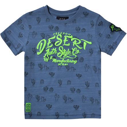 STACCATO Boys T-Shirt blau gemustert