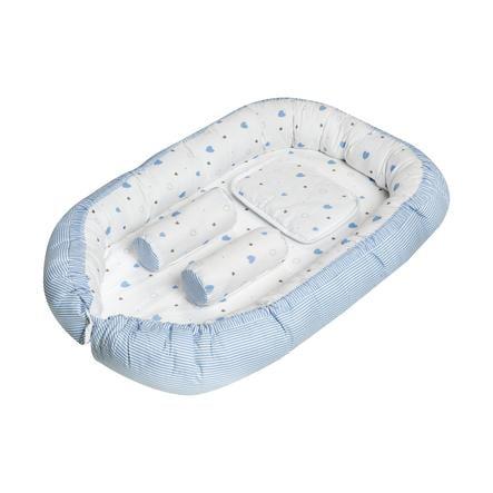 Schardt Babynest Cuoricini azzurri