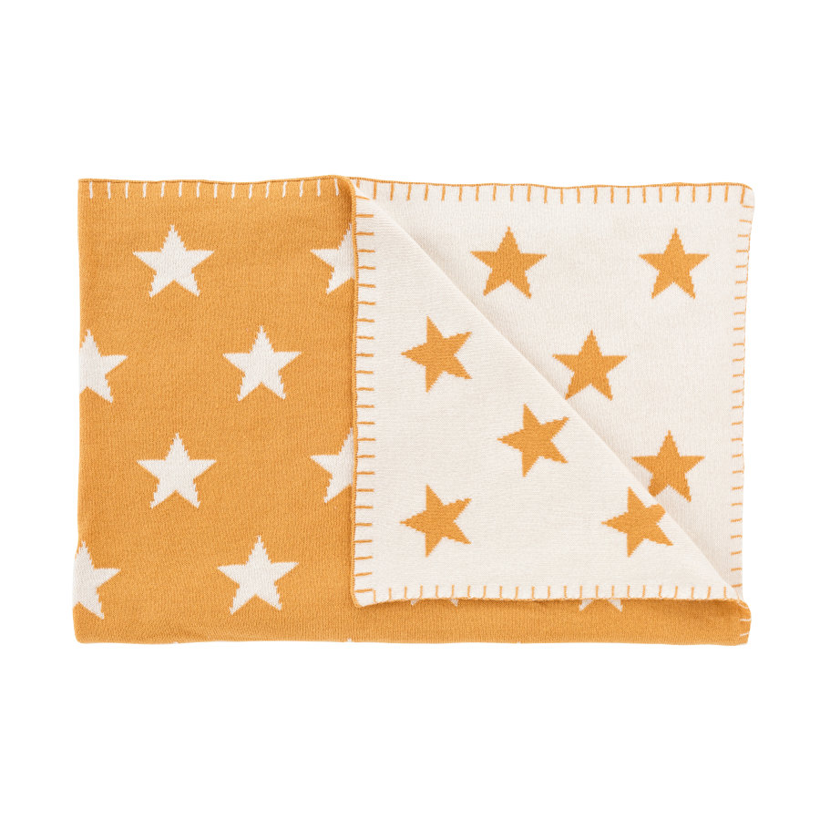 Schardt Baby Kuscheldecke 95 x 120 cm Big Star honey gold