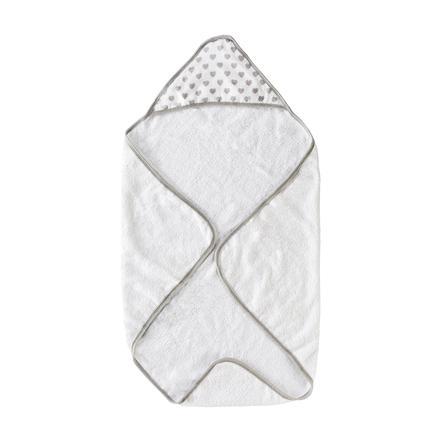 Schardt Ręcznik z kapturem serce szare