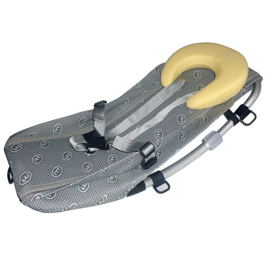 Weber fleksibel babystol til sykkelvogn, grå