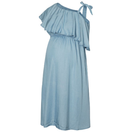 mama licious moederschap jurk MLNESLI light blauw denim