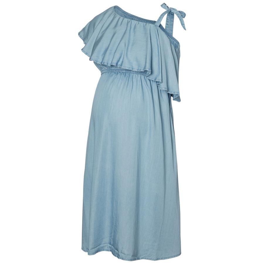 Mama Licious Kjole MLNESLI light blue denim