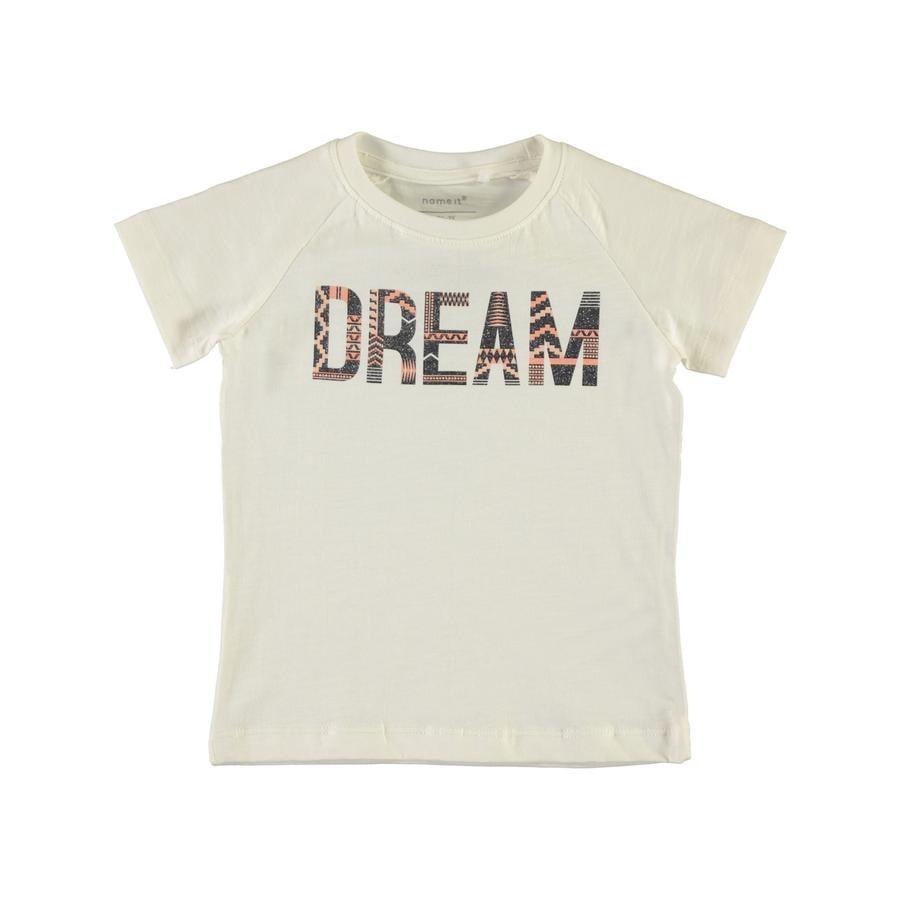 name it Flickor T-shirt Garulla b höger vit