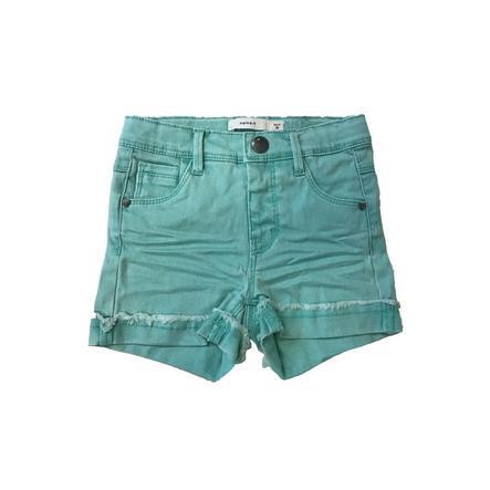 name it Girls Shorts Salli pool blue