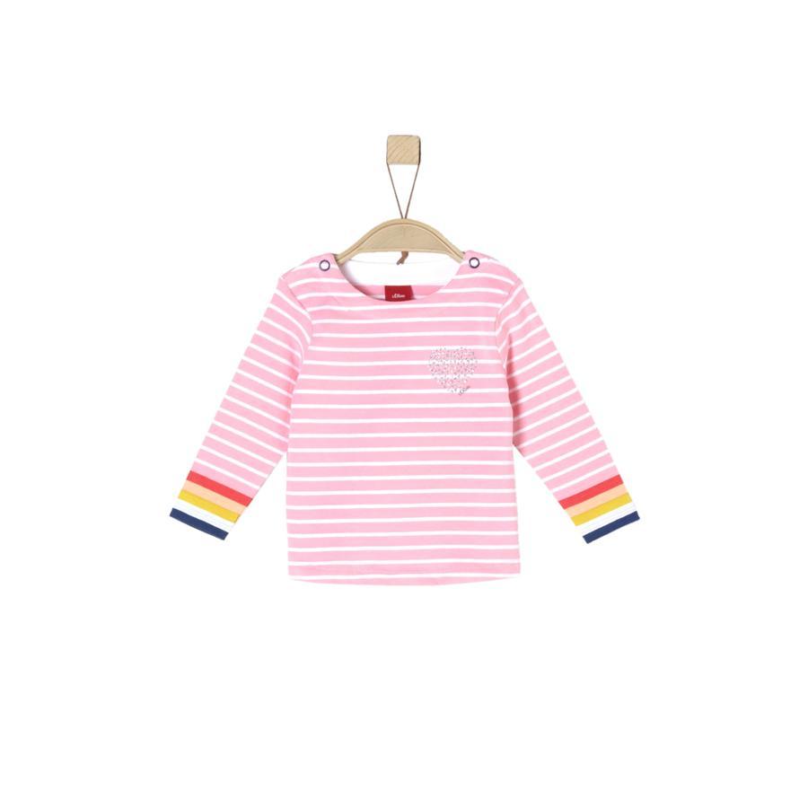 s.Oliver Girls Langarmshirt light pink stripes