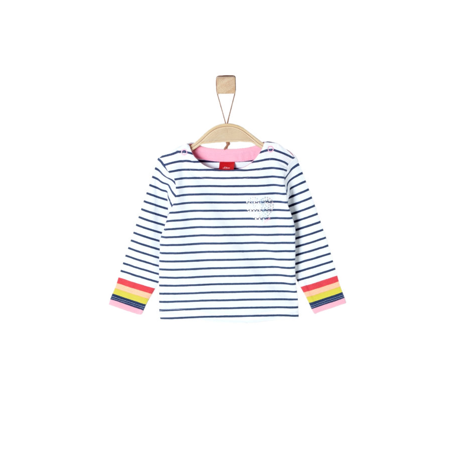 s.Oliver Langarmshirt white stripes