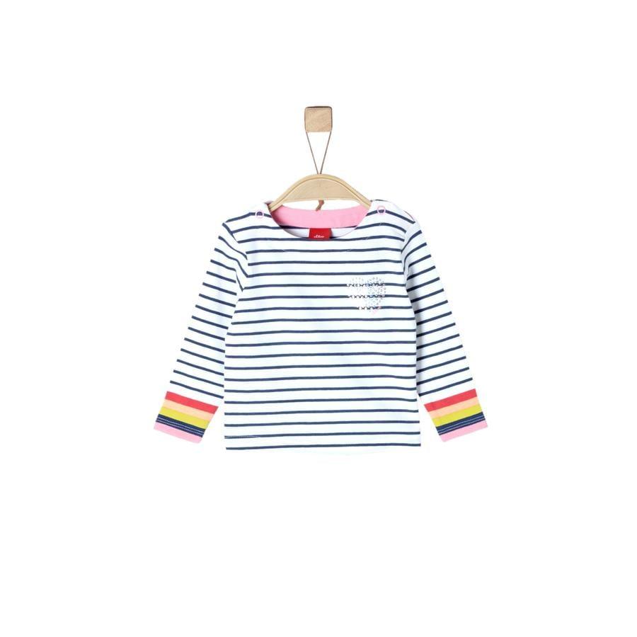 s.Oliver Shirt met lange mouwen witte strepen