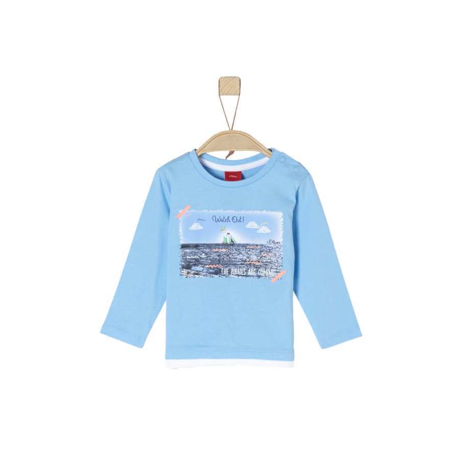 s. Olive r Košile s dlouhými rukávy light modrá