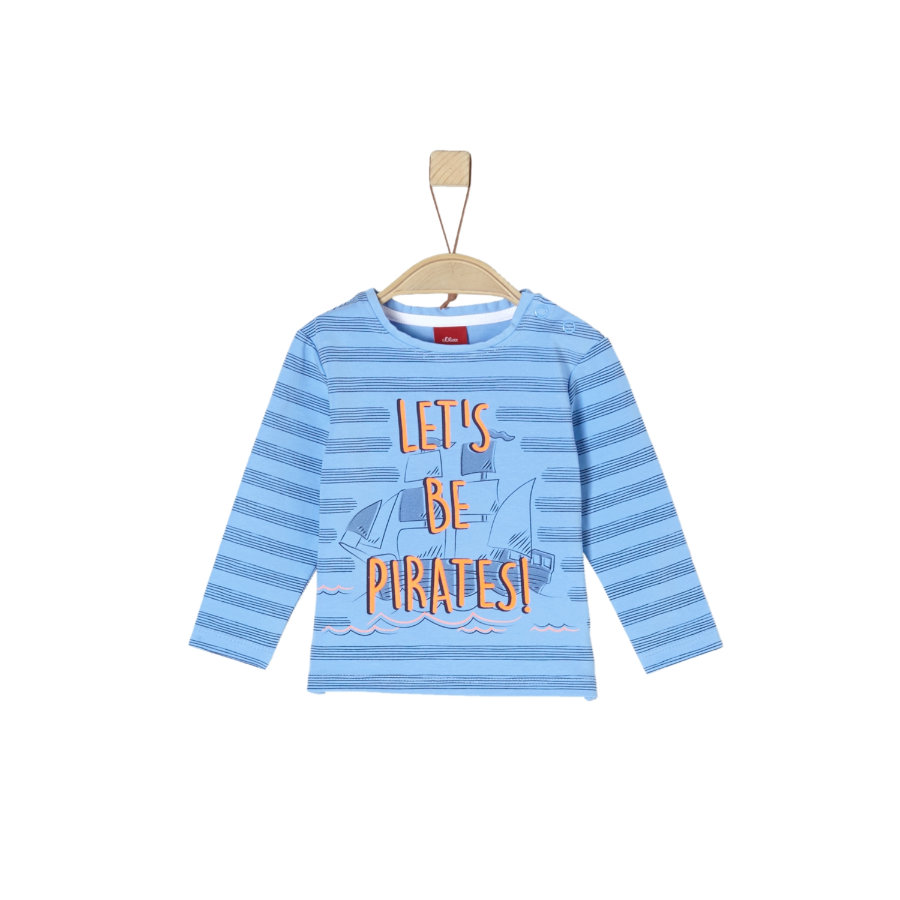 s.Oliver Shirt met lange mouwen lichtblauw aop