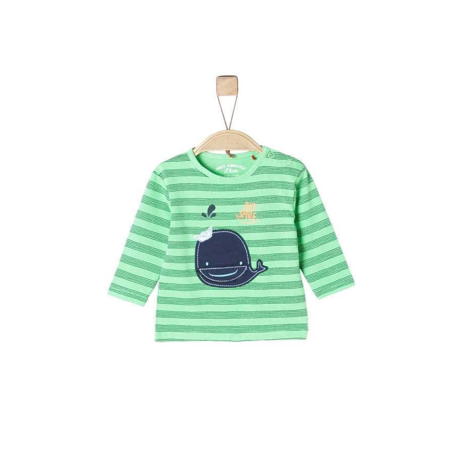 s.Oliver Långärmad tröja light green aop