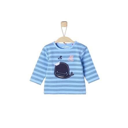 s. Olive r Košile s dlouhým rukávem light modrá aop