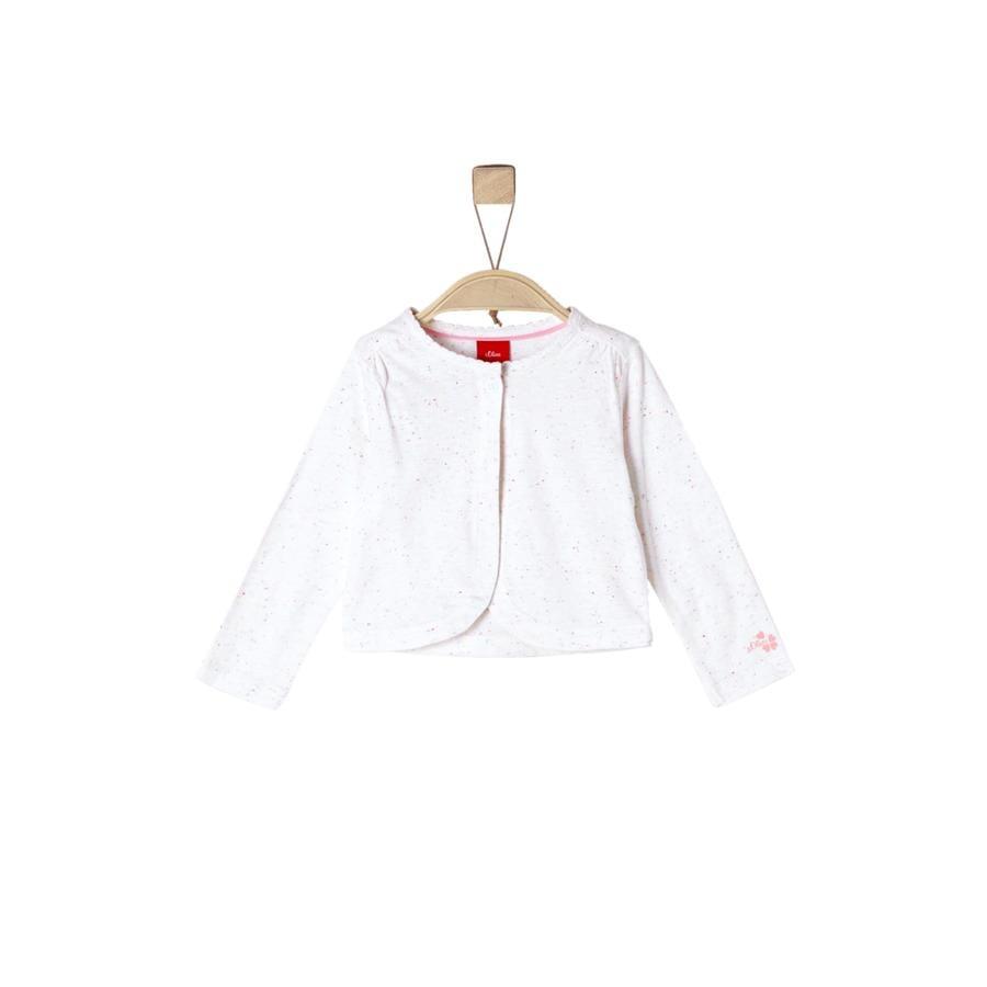 s.Oliver Camisa manga larga blanca mélange