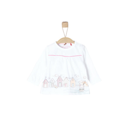 s.Oliver Chemise manches longues blanc
