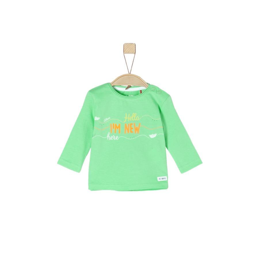 s.Oliver Lange mouw shirt groen