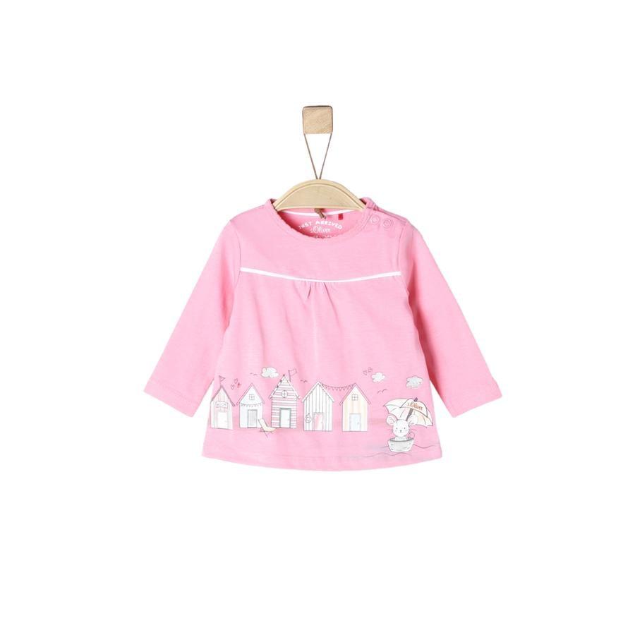 s.Oliver Girl s Koszula z długim rękawem jasnoróżowa