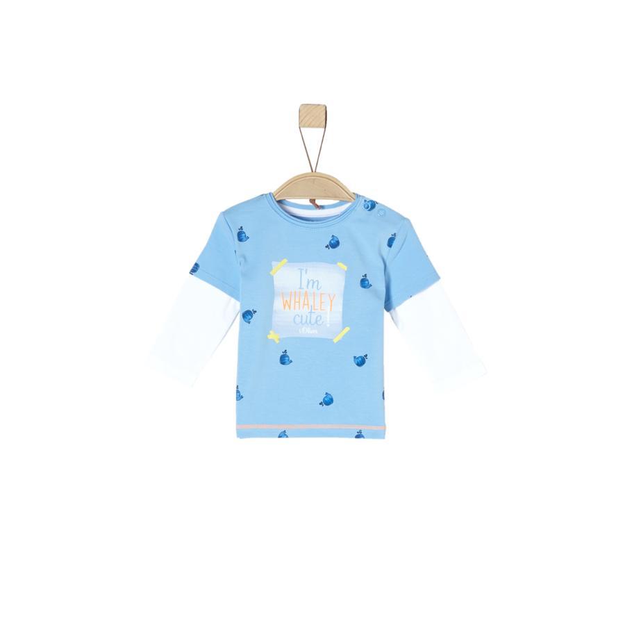 s.Oliver Camisa de manga larga azul claro aop