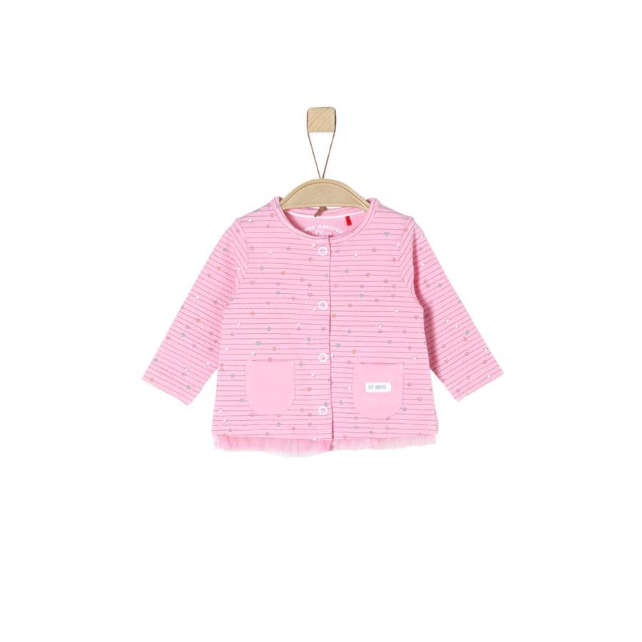 s.Oliver Girls Langarmshirt light pink aop