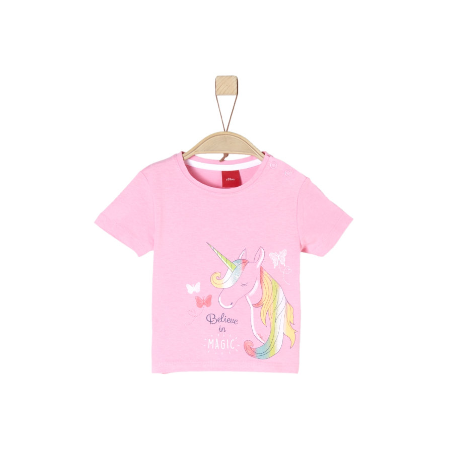 s.Oliver Girl s rose T-Shirt pâle