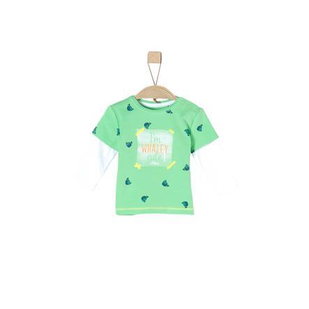 s.Oliver Camisa de manga larga verde claro aop