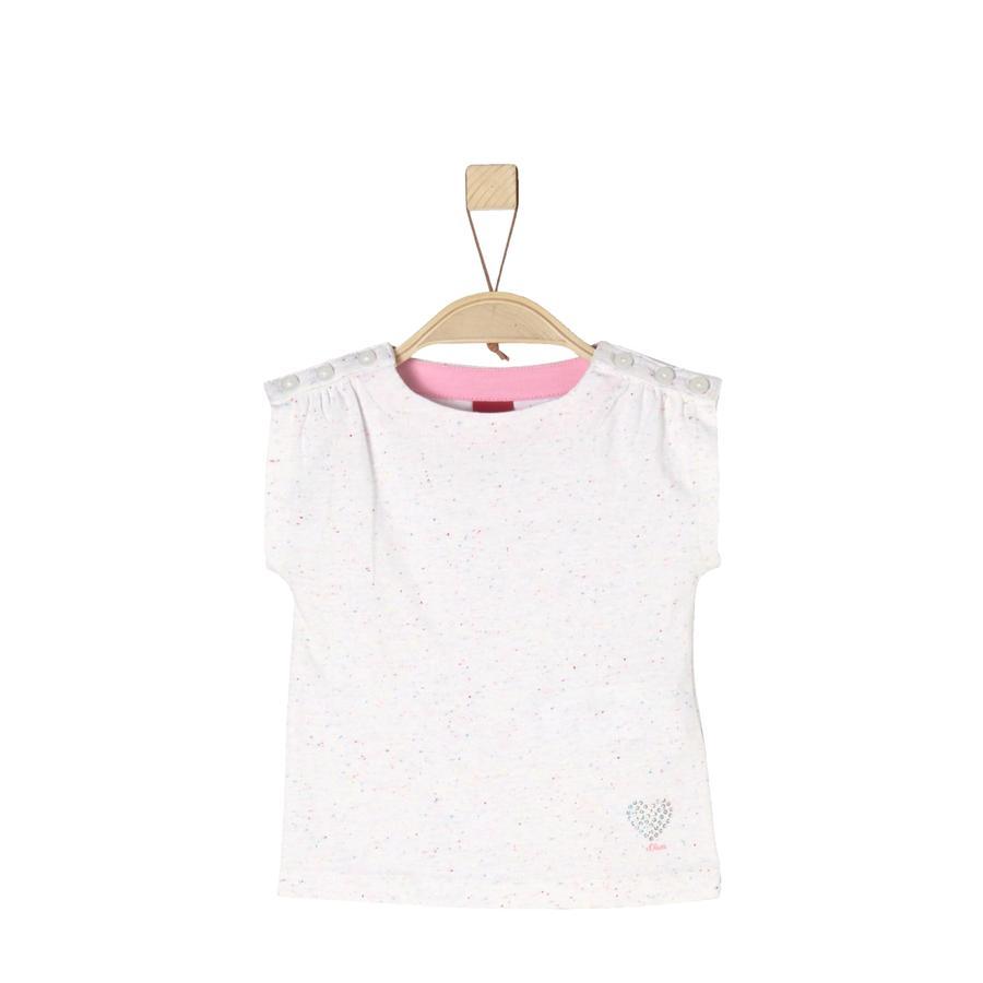 s.Oliver T-Shirt white melange