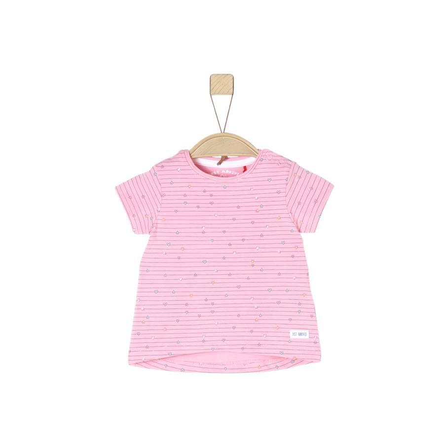 s.Oliver Girl s T-Shirt lichtroze aop
