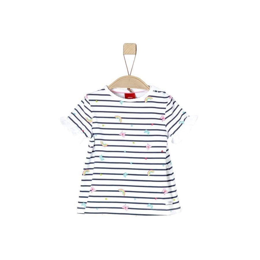 s.Oliver T-Shirt blanc aop