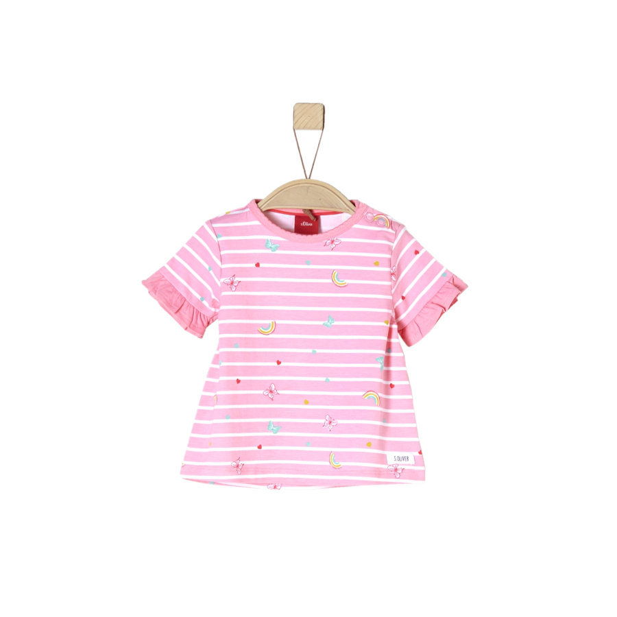 s.Oliver Girl s rose T-Shirt clair multicolore