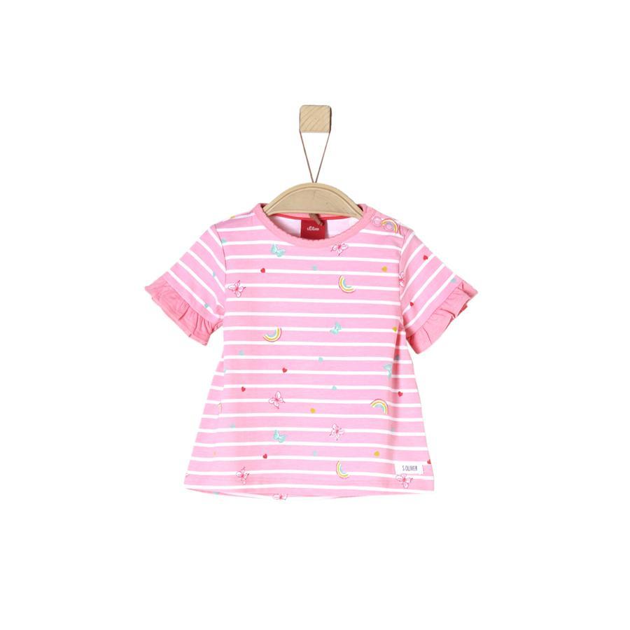 s.Oliver Girl T-Shirt jasnoróżowy różowy, wielokolorowy