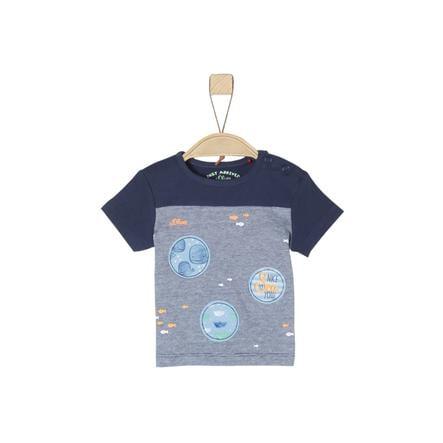 s.Oliver T-Shirt mélange bleu foncé