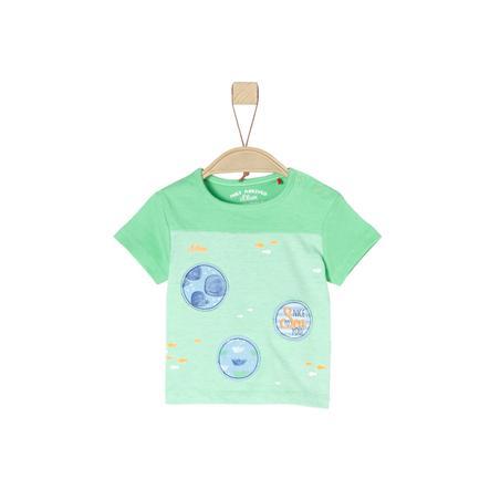 s.Oliver T-Shirt verde claro mélange