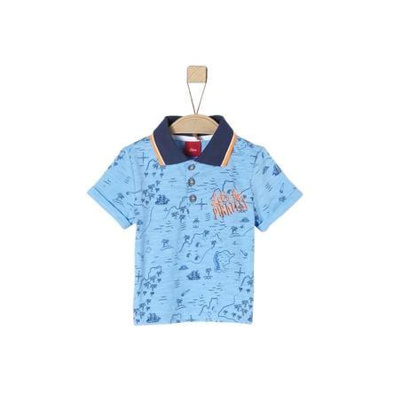 s.Oliver Poloshirt light blue aop
