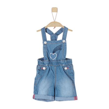 s.Oliver Girl s jeans salopette blauw denim niet rekbaar