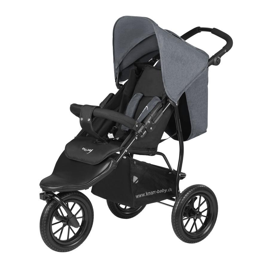 knorr baby sportwagen joggy s melange dunkelgrau. Black Bedroom Furniture Sets. Home Design Ideas