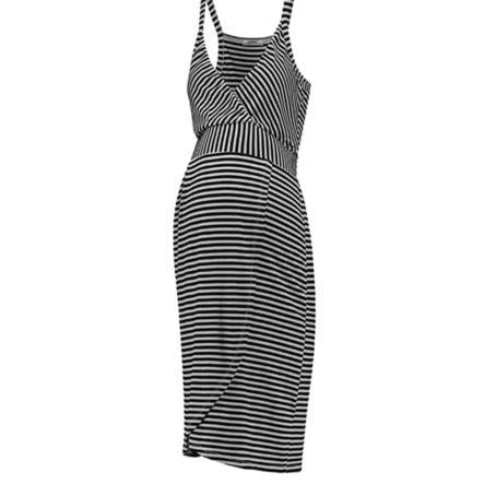 LOVE2WAIT Sukienka ciążowa w paski Czarny
