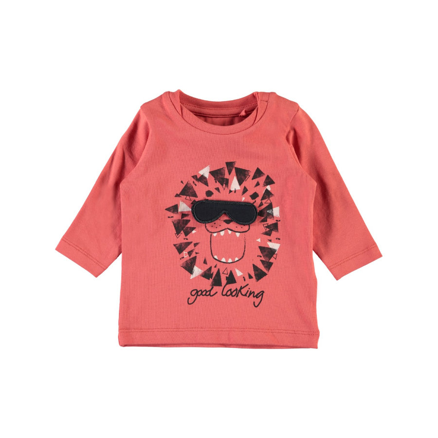 name it Boys Langarmshirt Gamin spiced coral