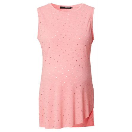 SUPERMOM Koszulka dla kobiet w ciąży Destroyed Light Rose